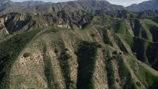AX0009_001 - 5K stock footage aerial video fly over the San Gabriel Mountains in California