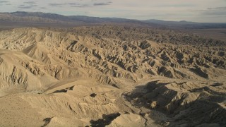 AX0011_001 - 5K stock footage aerial video approach the Little San Bernardino Mountains in the Mojave Desert, California