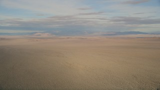 AX0011_065 - 5K stock footage aerial video of a wide view of the Mojave Desert in California