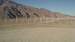 AX0013_003 - 5K stock footage aerial video of the San Gorgonio Pass Wind Farm, California