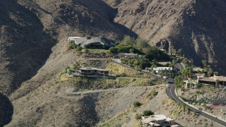 AX0013_044 - 5K stock footage aerial video of a mansion in the hills, West Palm Springs, California