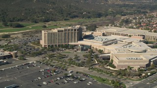AX0014_041 - 5K stock footage aerial video approach Pechanga Resort and Casino, Temecula, California