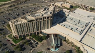 AX0014_049 - 5K stock footage aerial video of a bird's eye of Pechanga Resort and Casino, Temecula, California