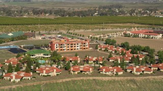 AX0014_059 - 5K stock footage aerial video of South Coast Winery Resort and Spa in Temecula, California