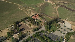 AX0014_066 - 5K stock footage aerial video of Calvary Chapel Bible Fellowship, Temecula, California