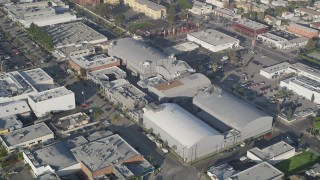 AX0017_078 - 5K stock footage aerial video of orbiting Ren-Mar Studios, Hollywood, California