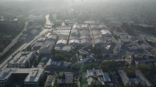 AX0017_099 - 5K stock footage aerial video of Warner Brothers Studio, Burbank, California