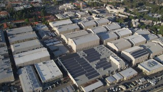 AX0017_102 - 5K stock footage aerial video of circling Warner Brothers Studios, Burbank, California