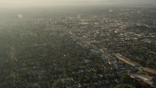 AX0017_109 - 5K stock footage aerial video of fly over residential neighborhoods, North Hollywood, California
