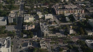 AX0024_009 - 5K stock footage aerial video of medical center by Larkin Community Hospital, South Miami, Florida
