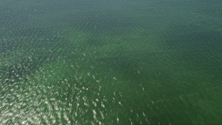 AX0025_069 - 5K stock footage aerial video of flying over shallow water of Buttonwood Sound, Key Largo, Florida