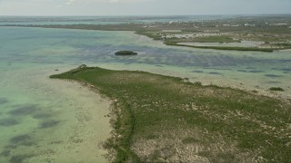 AX0026_047 - 5K stock footage aerial video of flying over Coupon Bight mangroves, Big Pine Key, Florida