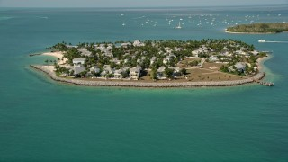 AX0026_100 - 5K stock footage aerial video of homes on Sunset Key near Key West, Florida