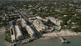 AX0027_009 - 5K stock footage aerial video of flying by The Reach, A Waldorf Astoria Resort, Key West, Florida