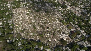 AX0027_022 - 5K stock footage aerial video of flying by Key West Cemetery in Key West, Florida