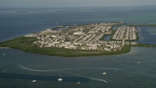 AX0027_026 - 5K stock footage aerial video of flying by Sigsbee Park, Key West, Florida
