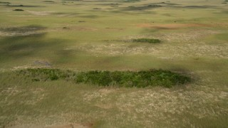 AX0030_032 - 5K stock footage aerial video of cloud shadows on marshland, Florida Everglades, Florida