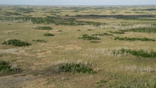AX0030_038 - 5K aerial stock footage video of a wide view of marshland, Florida Everglades, Florida