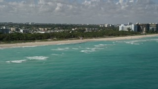 AX0031_066 - 5K stock footage aerial video of flying by North Shore Open Space Park, Miami Beach, Florida