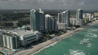 AX0031_091 - 5K stock footage aerial video of The Westin Diplomat Resort and Spa, Hallandale Beach, Florida