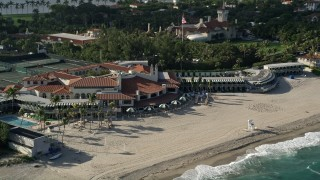 AX0032_073 - 5K stock footage aerial video of the coastal Bath and Tennis Club, Palm Beach, Florida