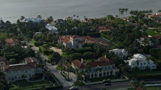 AX0032_076 - 5K stock footage aerial video of mansions, residential neighborhoods, Palm Beach, Florida