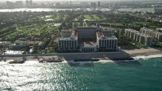 AX0032_081 - 5K stock footage aerial video of The Breakers Palm Beach, Palm Beach, Florida