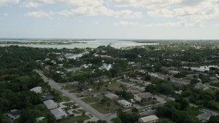 AX0033_001 - 5K stock footage aerial video of homes around Willough by Creek Stuart, Florida