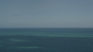 AX0033_053 - 5K stock footage aerial video of the blue ocean seen from Vero Beach, Florida