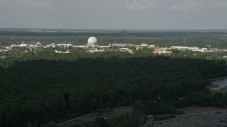 AX0035_036 - 5K stock footage aerial video of Epcot Theme Park, Walt Disney World, Orlando, Florida