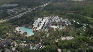 AX0035_039 - 5K stock footage aerial video of Blizzard Beach water park, Walt Disney World, Orlando, Florida