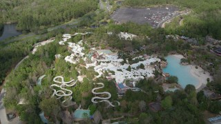 AX0035_043 - 5K stock footage aerial video of flying around Blizzard Beach water park, Walt Disney World, Orlando, Florida
