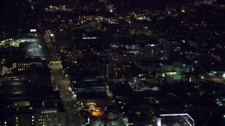 AX0156_018 - 8K stock footage aerial video of the Children's Hospital Los Angeles in Hollywood, California