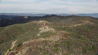 AX0157_018 - 8K stock footage aerial video flying over the Santa Monica Mountains in California