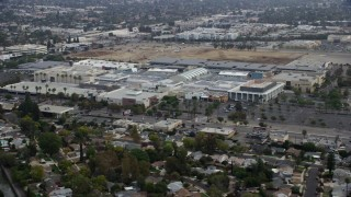 AX0157_028 - 8K stock footage aerial video orbiting of Westfield Topanga Mall, Woodland Hills, California