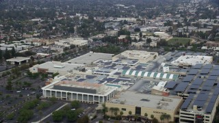 AX0157_030 - 8K stock footage aerial video of Westfield Topanga Mall in Woodland Hills, California