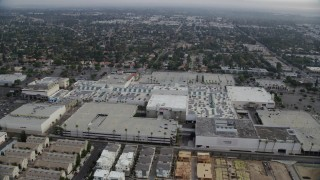 AX0157_061 - 8K stock footage aerial video orbiting near the Northridge Shopping Mall in Northridge, California