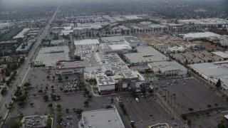 AX0157_063 - 8K stock footage aerial video orbiting the Northridge Shopping Mall in Northridge, California