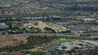AX0159_180 - 8K stock footage aerial video of a citizenship and immigration service center, Laguna Niguel, California