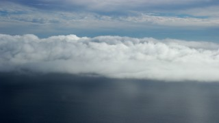 AX0159_243 - 8K stock footage aerial video of clouds over the Pacific Ocean in Southern California
