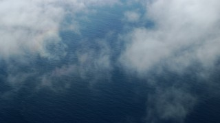 AX0160_029 - 8K stock footage aerial video of open water of the Pacific Ocean off the coast of Southern California