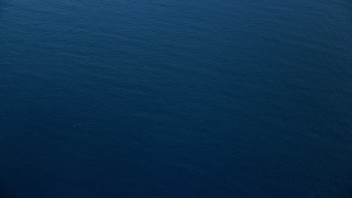 AX0160_032 - 8K stock footage aerial video of a bird's eye view of open water of the Pacific Ocean, Southern California