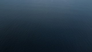 AX0160_036 - 8K stock footage aerial video of open water of the Pacific Ocean off the coast of Southern California