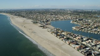 AX0160_058 - 8K stock footage aerial video of Belmont Shore residential neighborhood in Long Beach, California