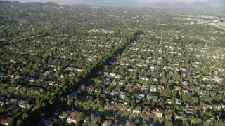 AX0161_084 - 8K stock footage aerial video of upscale neighborhoods in Santa Monica, California