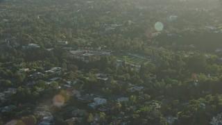 AX0161_101 - 8K stock footage aerial video of the Harvard Westlake School in Beverly Glen, Los Angeles, California