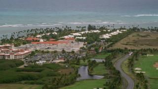 AX102_043 - 5k stock footage aerial video of an Oceanfront Gran Melia Golf Resort, Puerto Rico
