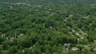 AX106_069 - 5K stock footage aerial video of suburban neighborhoods, Youngstown, Ohio