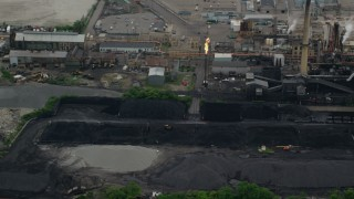 AX107_163 - 5K stock footage aerial video of Shenango Inc Coke Plant, Neville Island