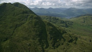 AX110_049 - 6K stock footage aerial video flyby Ben Lomond in Scottish Highlands, Scotland